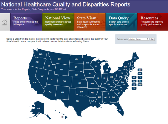 Visit AHRQ's website to see how your state compares in terms of healthcare access and quality